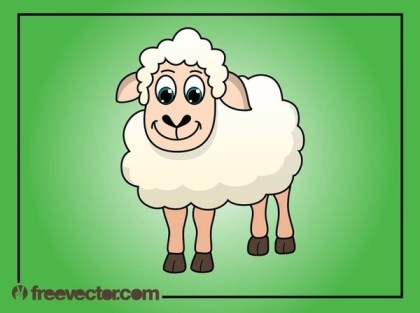 Cartoon Sheep Free Vector