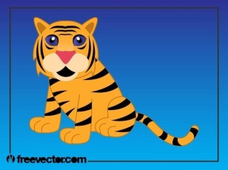 Cartoon Tiger Image Free Vector