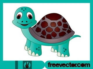 Cartoon Turtle Character Free Vector