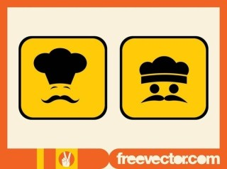 Chef Icons Free Vector