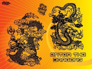 Chinese Dragons Free Vector