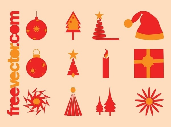 Christmas Icons Pack Free Vector