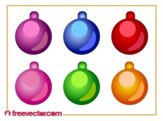 Christmas Ornaments Set Free Vector