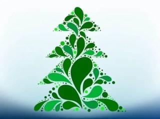 Christmas Tree Design Free Vector