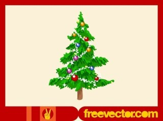 Christmas Tree Footage Free Vector