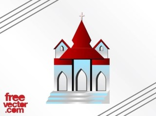 Church Building Free Vector