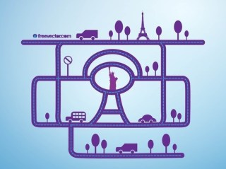 City Network Free Vector