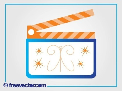 Clapperboard Free Vector