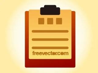 Clipboard Free Vector