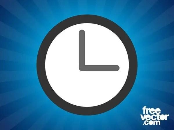 Clock Icon Free Vector