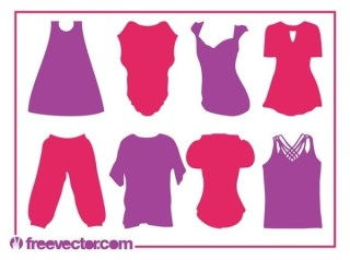 Clothes Silhouettes Free Vector