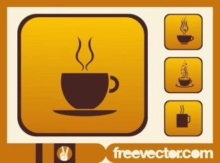 Coffee Cups Icons Free Vector