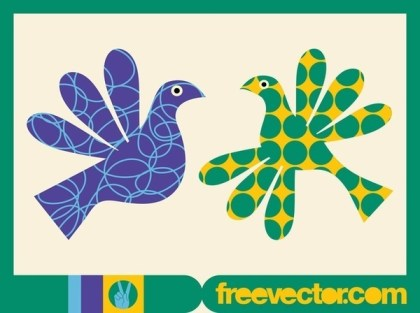 Colorful Birds Free Vector