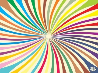 Colorful Burst Free Vector
