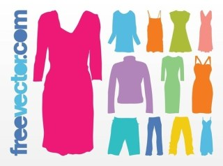 Colorful Clothes Free Vector