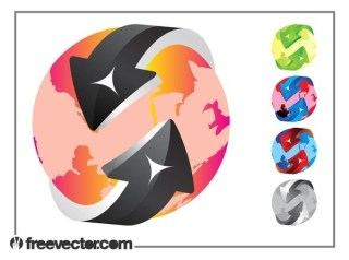 Colorful Globe Designs Free Vector