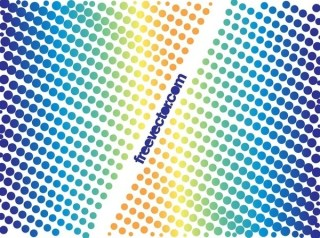Colorful Halftone Designs Free Vector