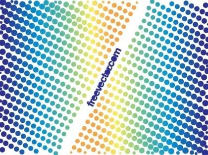 Colorful Halftone Designs Free Vector