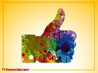 Colorful Like Hand Free Vector
