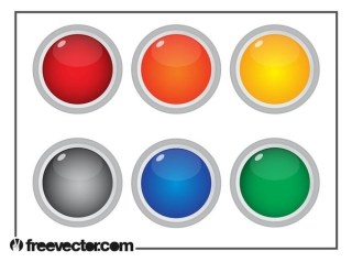 Colorful Round Buttons Free Vector