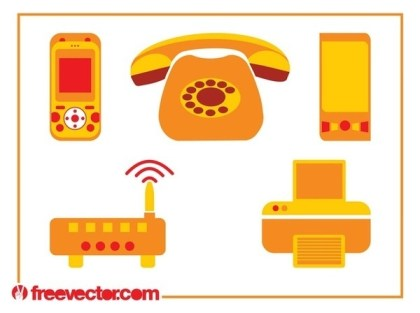 Communication Devices Free Vector