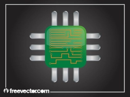 Computer Chip Free Vector