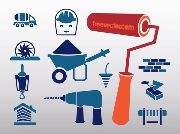 Construction Icons Free Vector