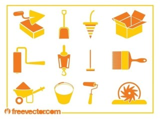 Construction Tools Icons Free Vector