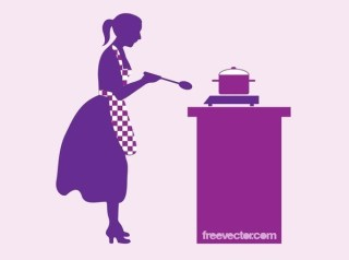 Cooking Woman Free Vector