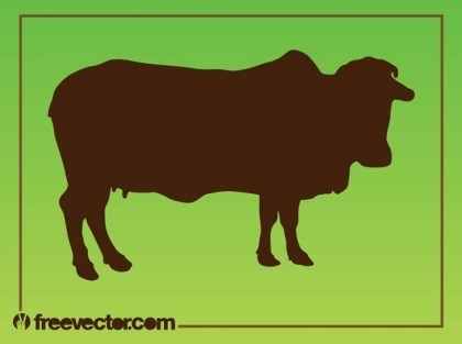 Cow Silhouette Free Vector