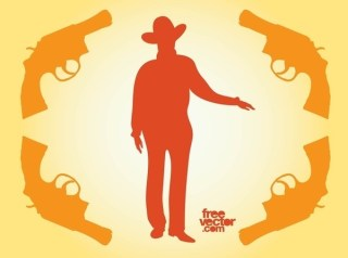 Cowboy Silhouette Free Vector
