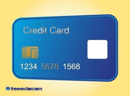 Credit Card Layout Free Vector