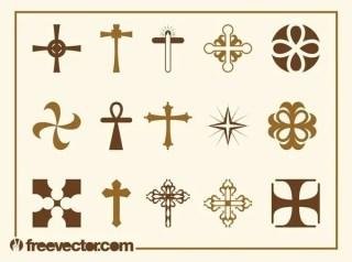 Crosses Set Free Vector