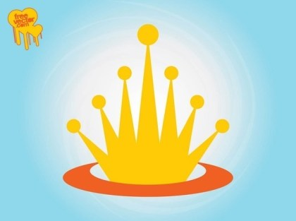 Crown Logo Template Free Vector