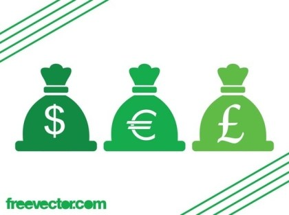 Currency Icons Free Vector