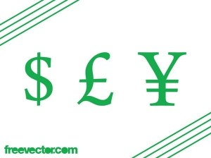 Currency Symbols Free Vector