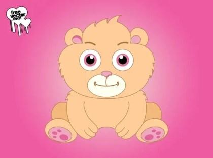 Cute Cartoon Bear Free Vector