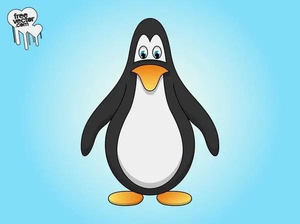 Cute Cartoon Penguin Free Vector