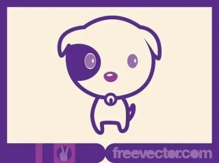 Cute Dog Free Vector