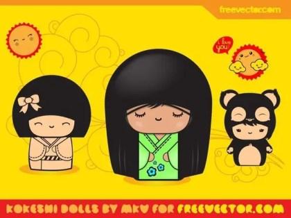 Cute Girls Free Vector