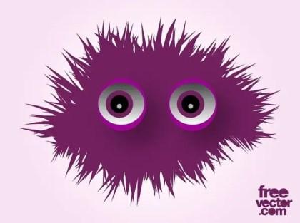 Cute Monster Free Vector