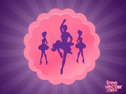 Dance Badge Free Vector