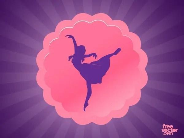 Dance Button Free Vector