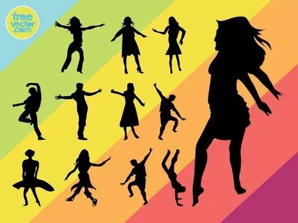 Dancers Free Vector