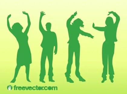 Dancing People Free Vector