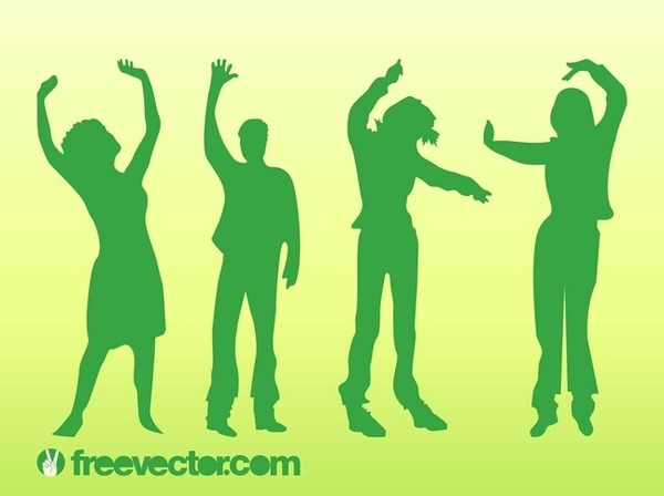 Dancing People Free Vector