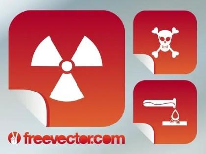 Danger Symbols Free Vector