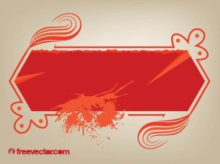 Decorated Banner With Splatter Free Vector