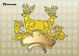 Deer Heraldry Free Vector