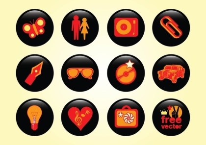 Design Buttons Free Vector